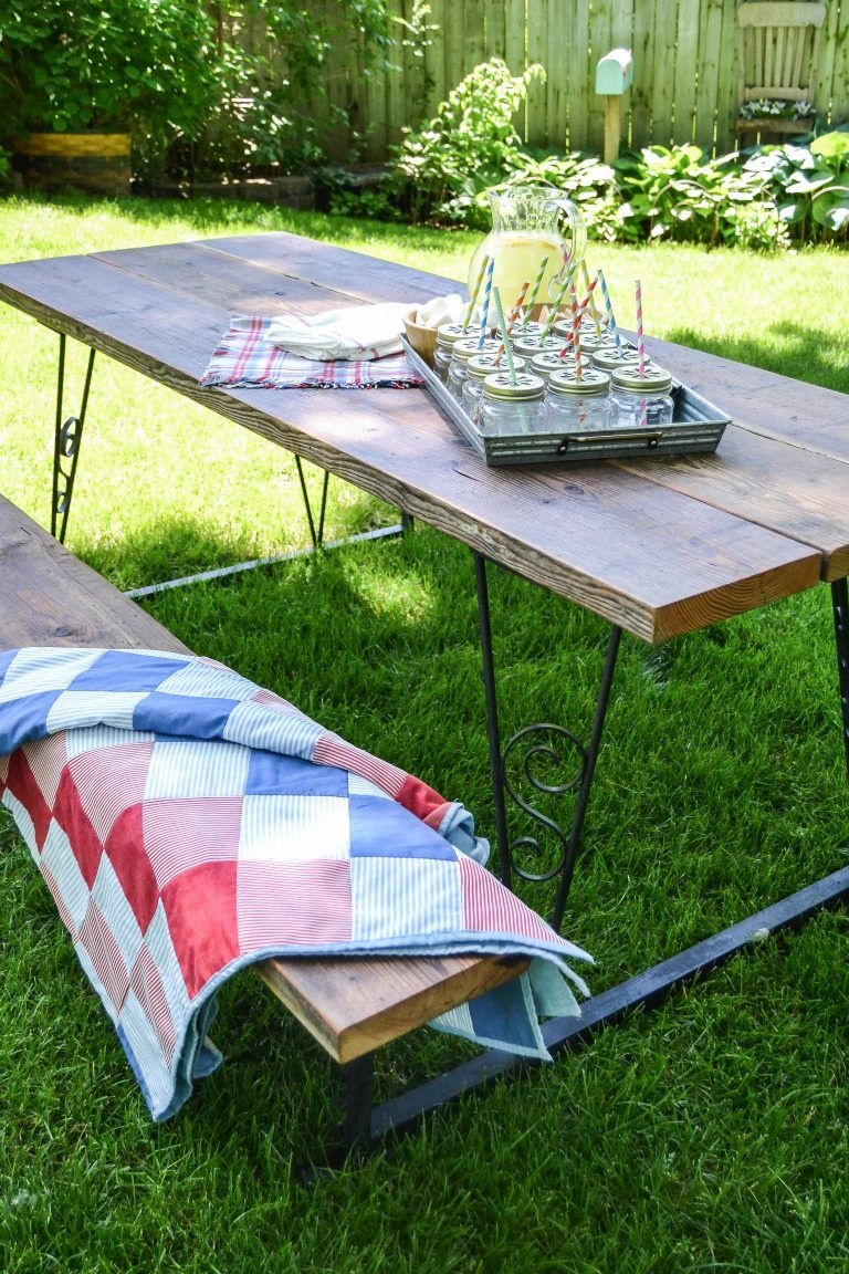Curbside picnic table makeover picnic table makeover