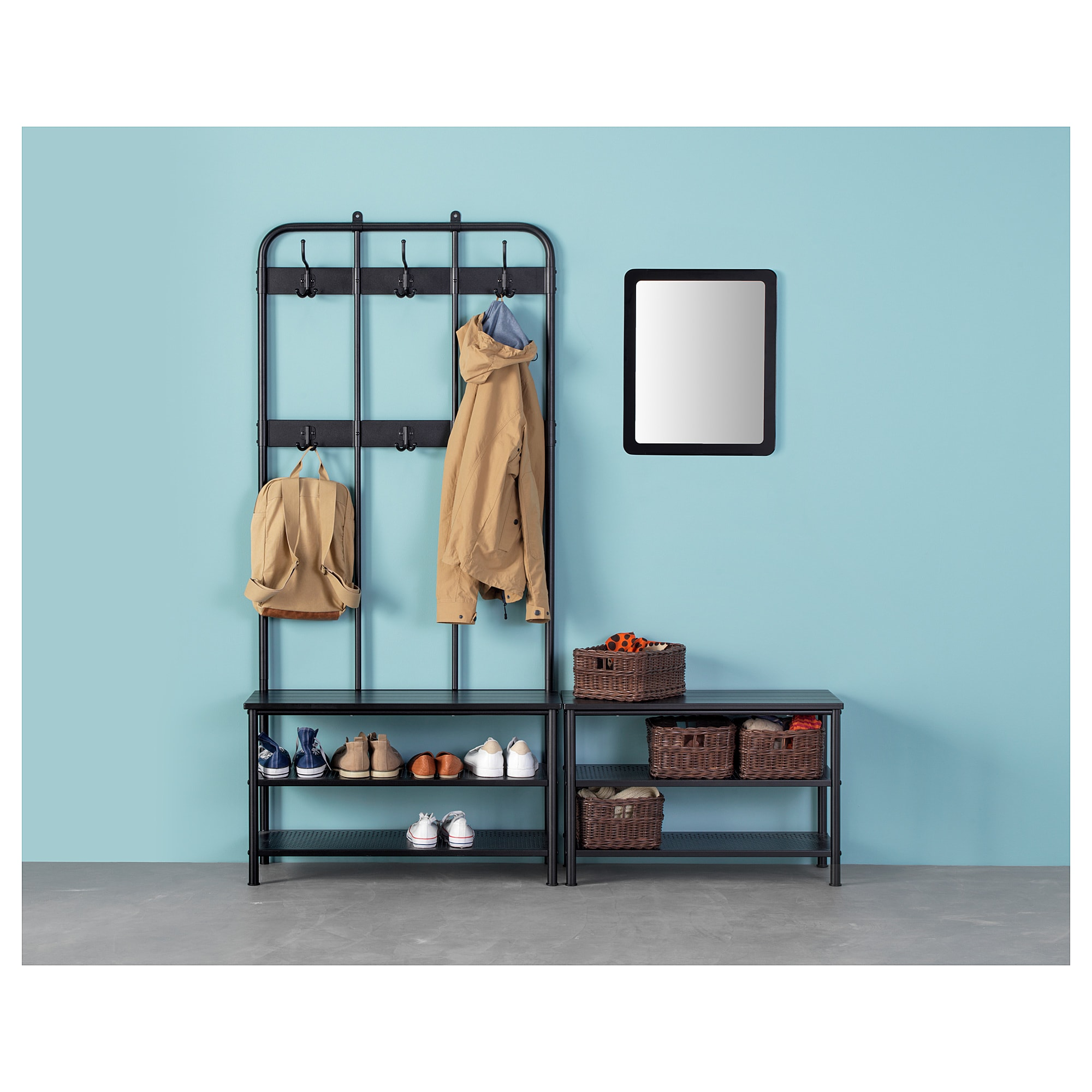 Ikea Pinnig Bench With Shoe Storage Black In 2019
