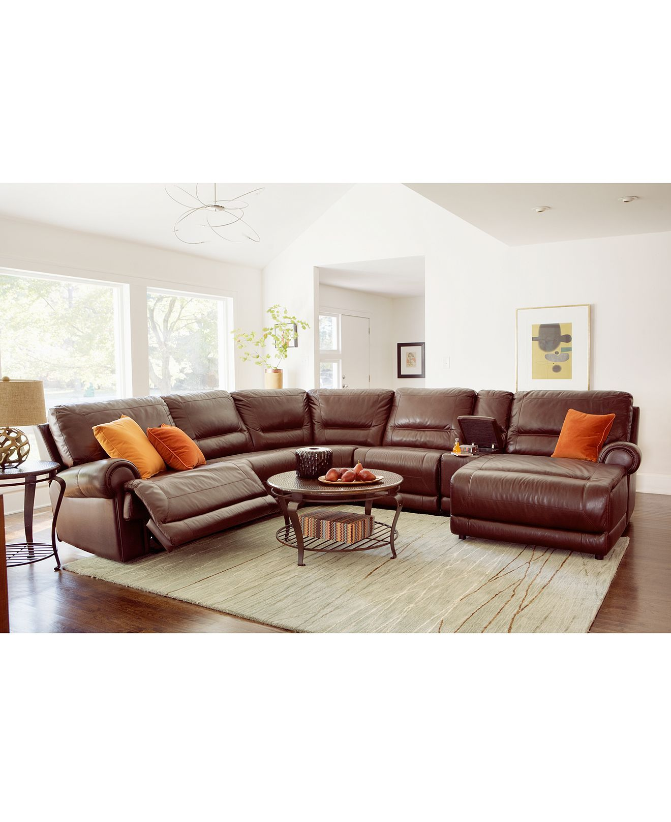 Macys leather sectional. And with power recliners to boot! | Living ...