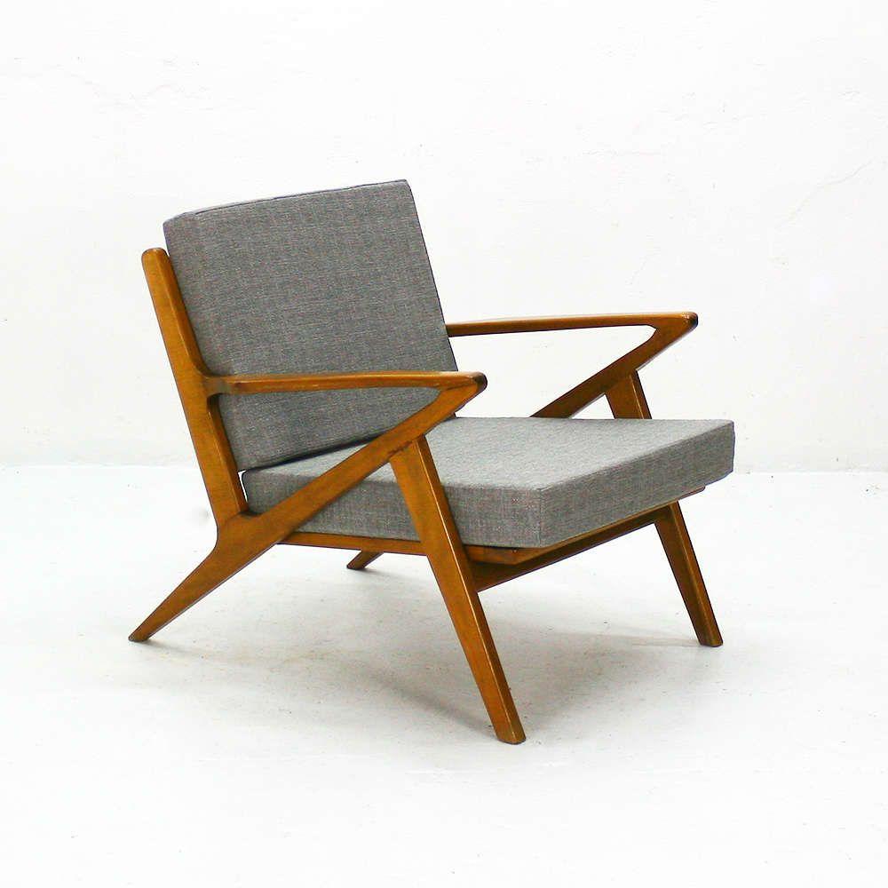 Poul Jensen Z Chair Haslev Denmark 1957 Oversized Chair