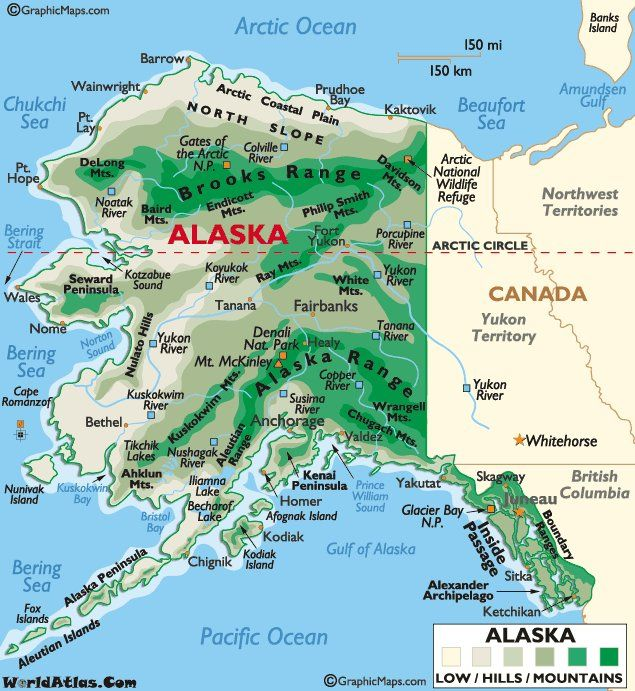 Alaska Mapthe Last State On My List All The Other Are In The - Mount mckinley on us map