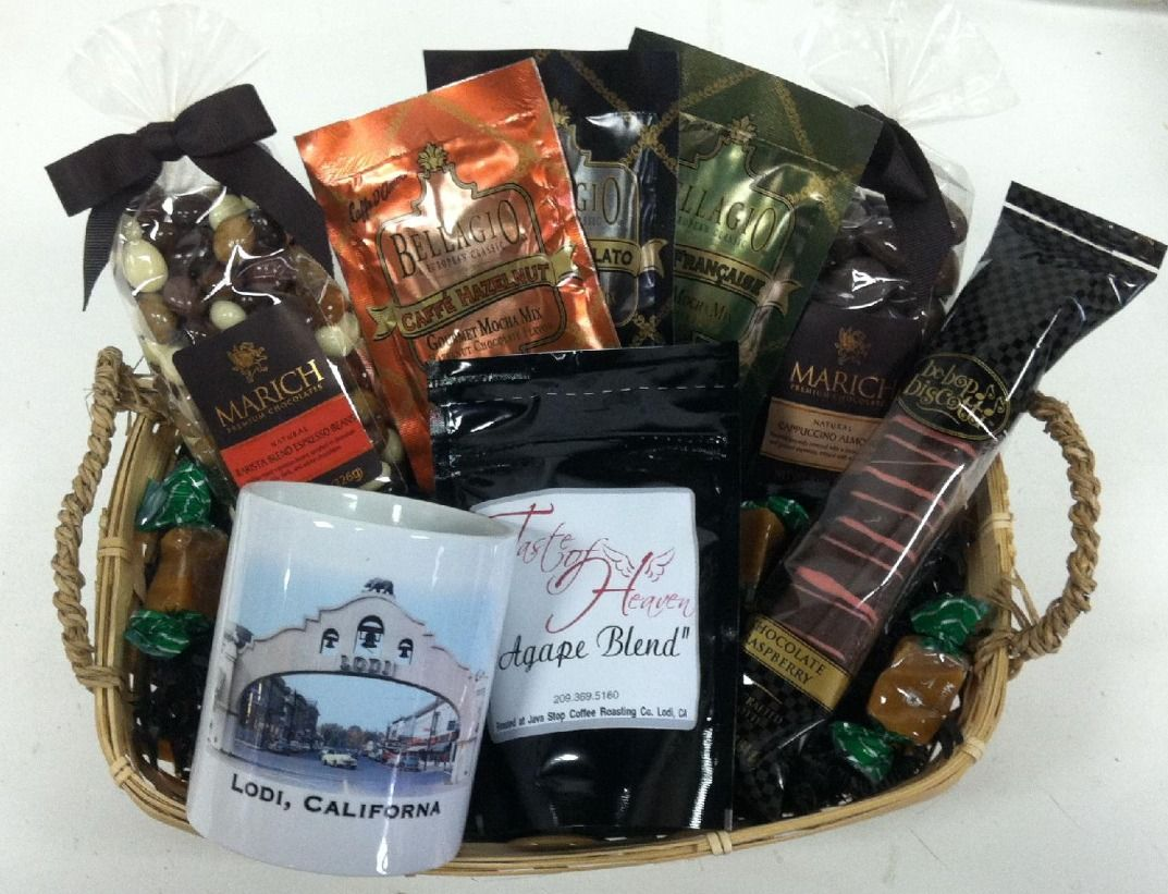 Check it out the coffee lovers basket at taste of heaven
