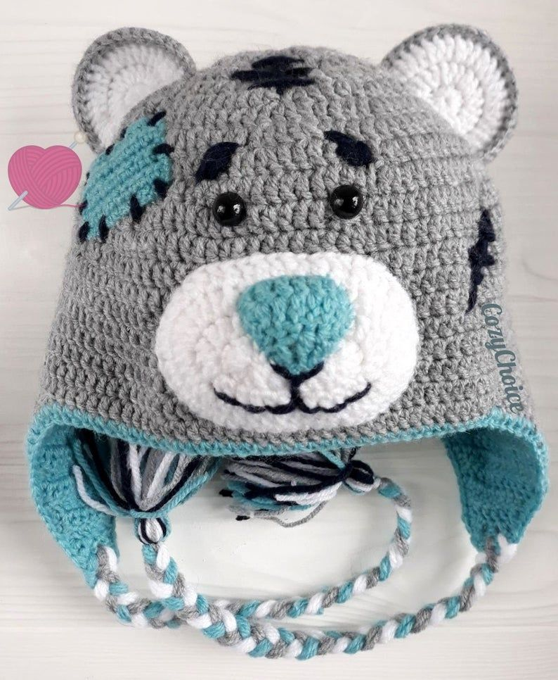"Photo of Cute knitted hat ""Bear"". Baby boy christmas outfit. Ear warmer. Animal mask. Baby slouchy beanie"