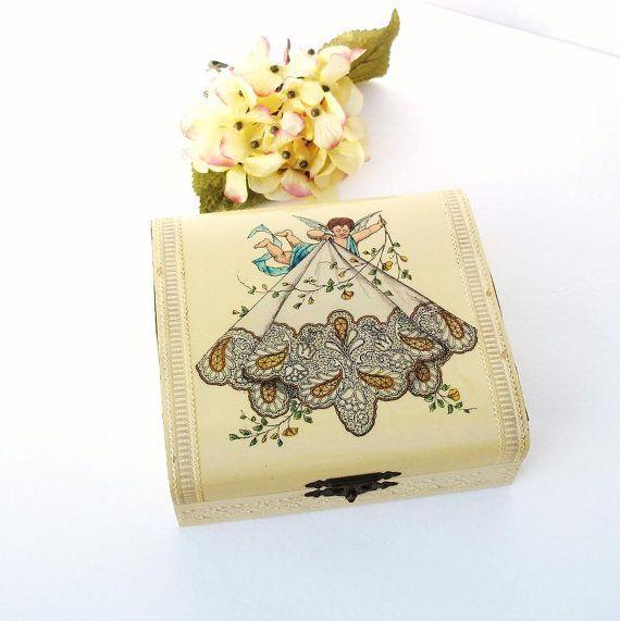 Victorian Hankie Box Handkerchiefs Storage by WhimzyThyme on Etsy, $58.95