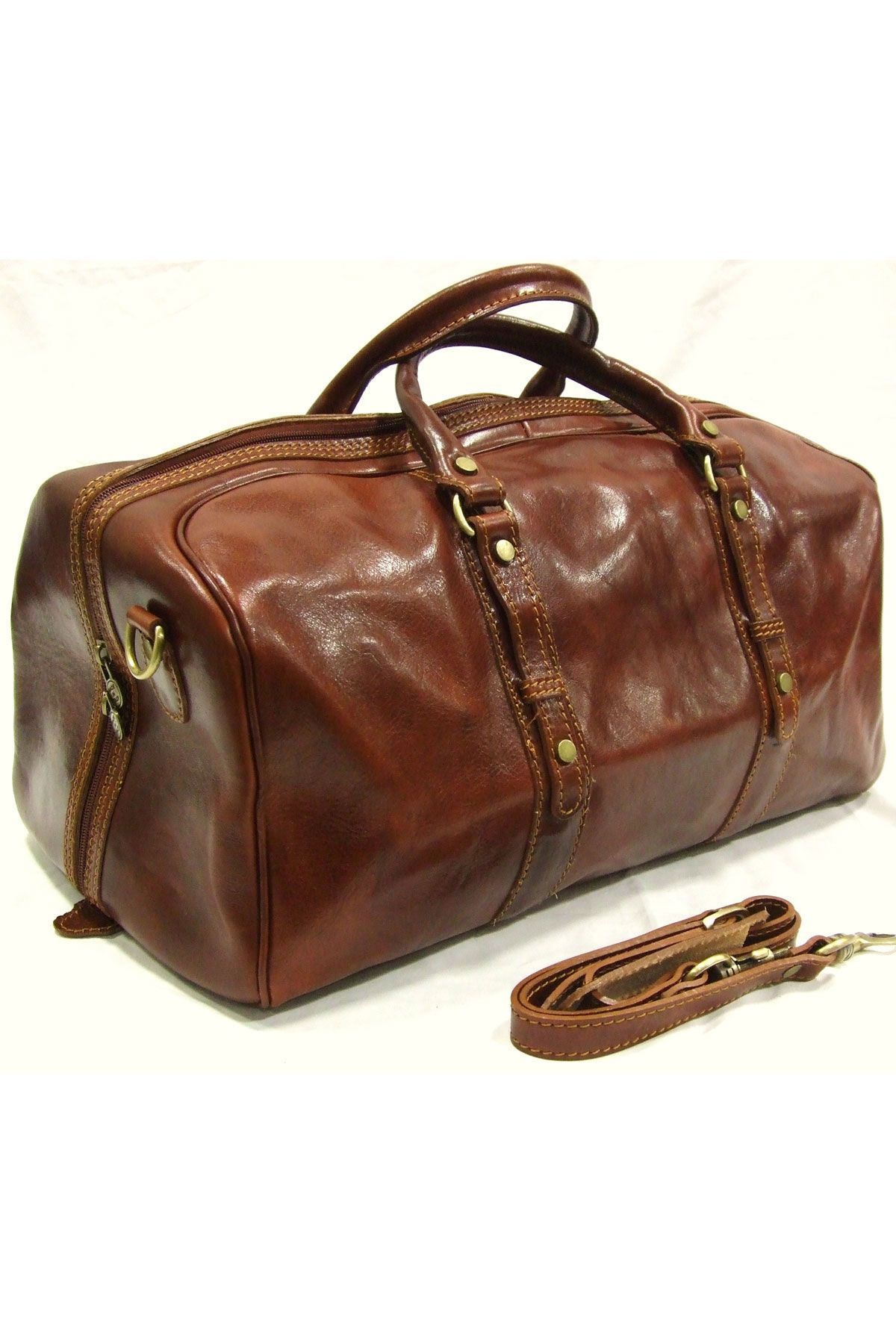 Italian Leather Travel Bag by Woodland Leather  e7c4a2cd906e6