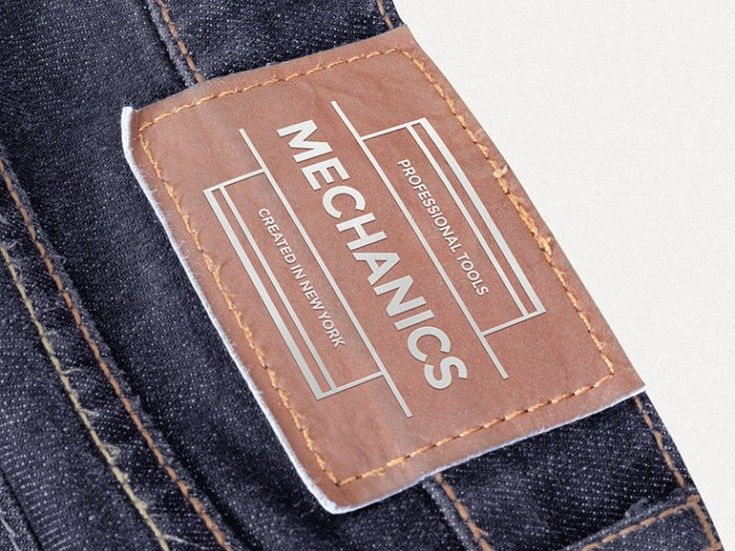 Free Leather Patch Mockup For Clothing Designer Leather Patches Hang Tags Clothing Leather Label