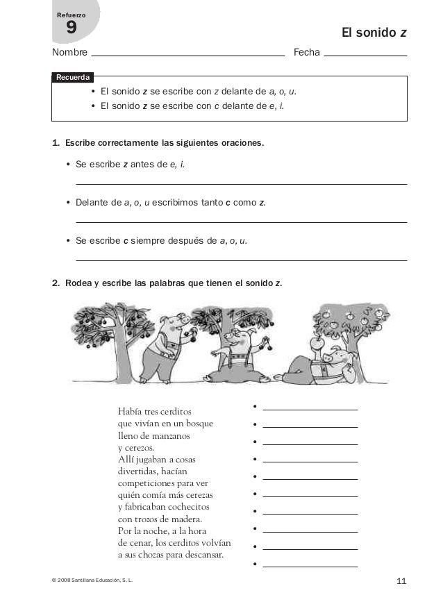 Lengua Repaso Y Ampliación 3º Primaria Santillana Apuntes De Lengua Lectura De Comprensión Practicas Del Lenguaje