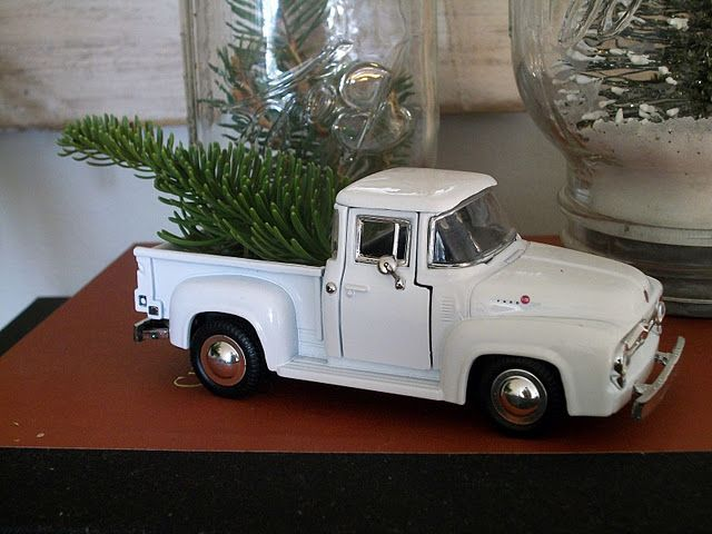 Toy truck display - I wish I could remember where I found this