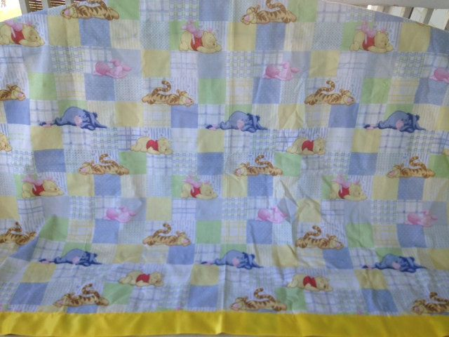 Winnie the Pooh Nap Time Quilt by JustALittleYarn on Etsy