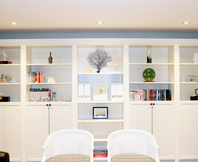 Good Looking Ikea Hacks Vogue Toronto Contemporary Family Room - Built in shelves in family room decorating