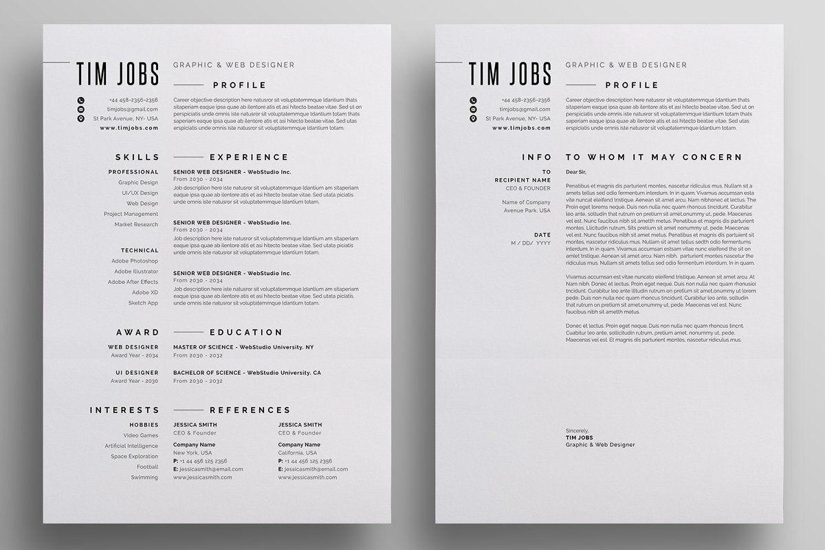 Resume Cv Letterhead Design Resume Cv Web Design