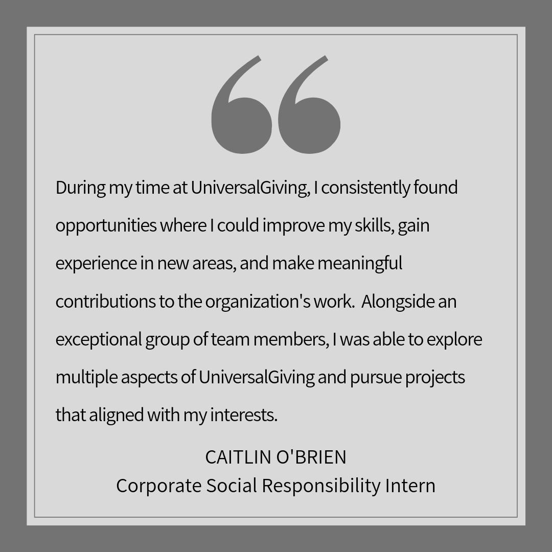 Testimonial from Caitlin O'Brien, Corporate Social