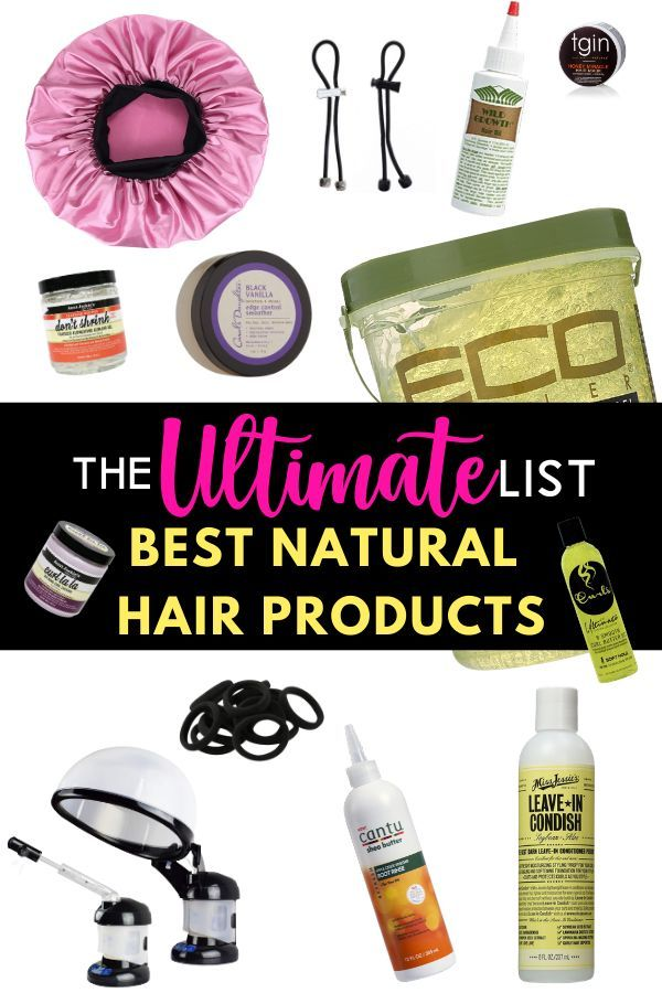 The ULTIMATE List of Products For Natural Hair