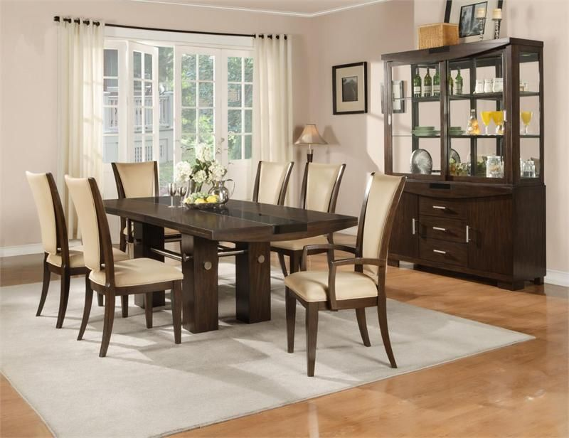 Fifth Avenue Cappuccino Dining Table Set Dining Room Pinterest