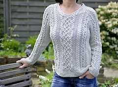 """Ravelry: """"Joyce"""" - summer sweater with cables pattern by Rita Maassen"""