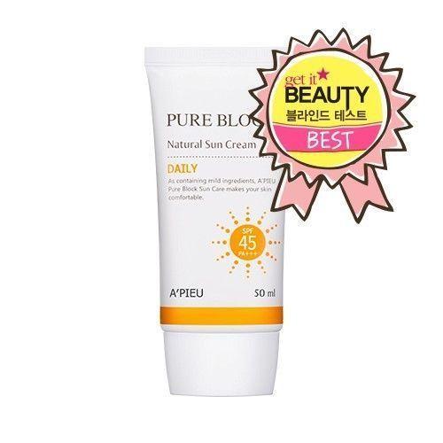 Pure Block Natural Daily Sun Cream 50ml Spf45 Pa Korea