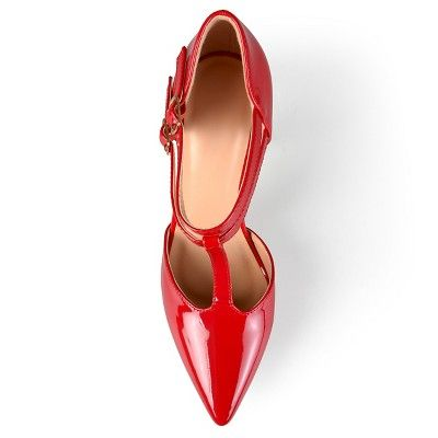 ac633ee0ae63 Women s Journee Collection Tru Classic T-Strap Pumps - Red 10 ...