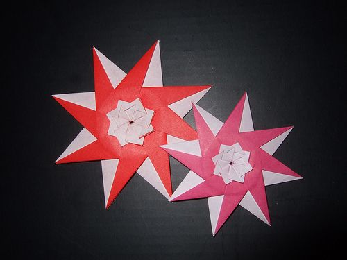 DIY Origami Star Step by Step Video Tutorial • K4 Craft | 375x500