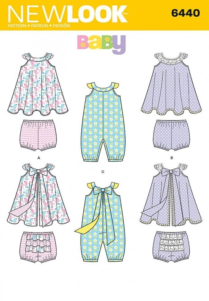 Free UK P&P - New Look Baby Sewing Pattern 6440 Romper, Sundress ...