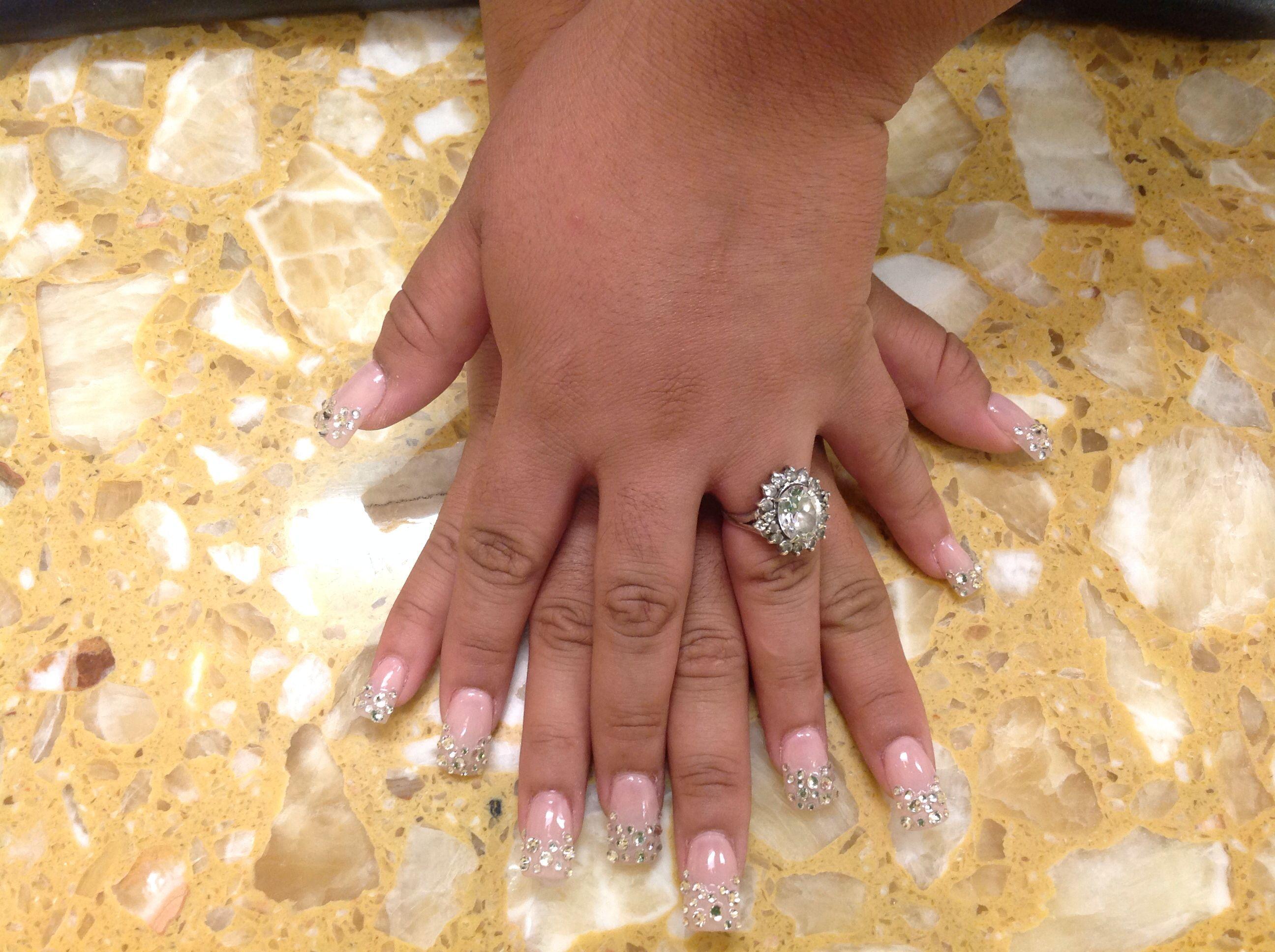 Diamond nails | Nails art by Kaly\'s Nails & Spa | Pinterest ...