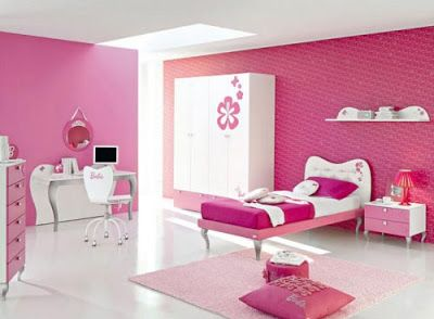 Interior Design Decorating Architectural Bed Room Pink Colour
