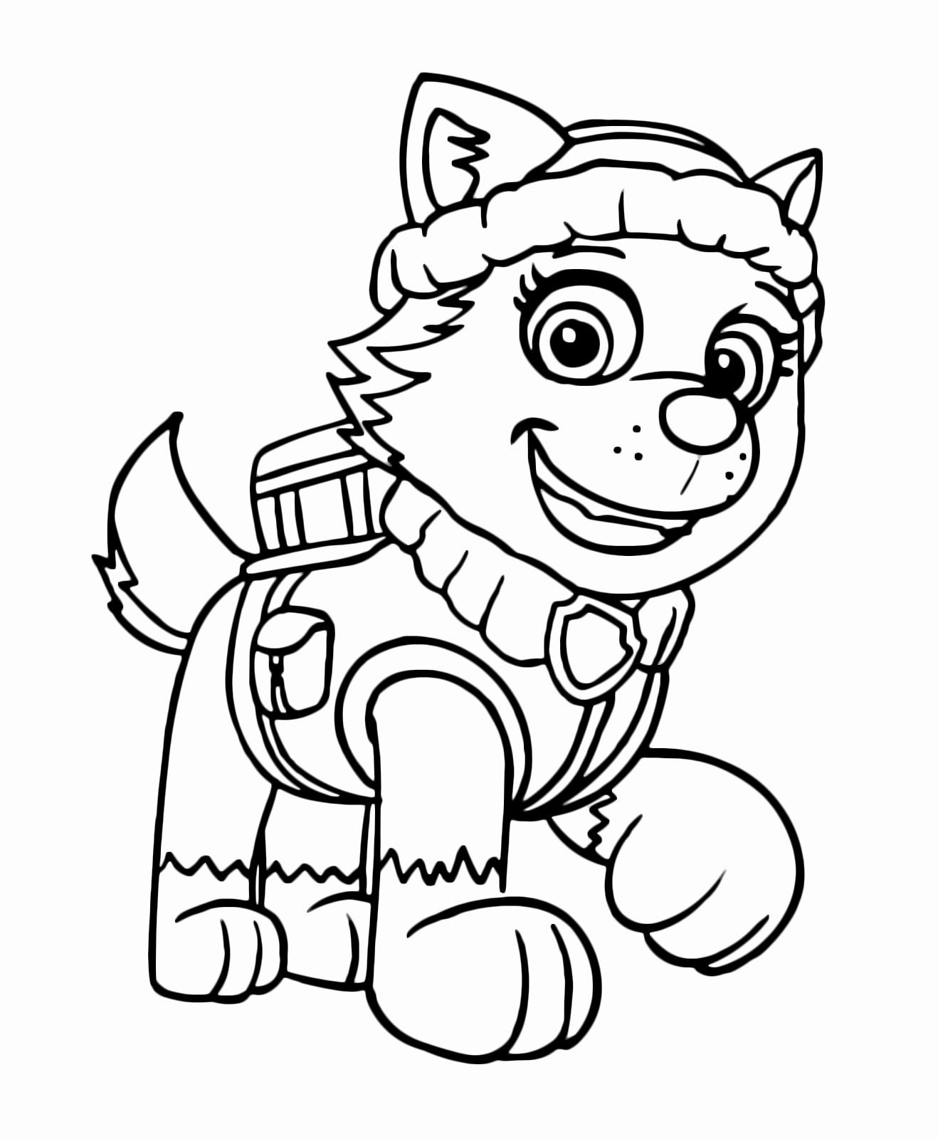 Paw Patrol Everest Coloring Page Beautiful Everest Paw Patrol