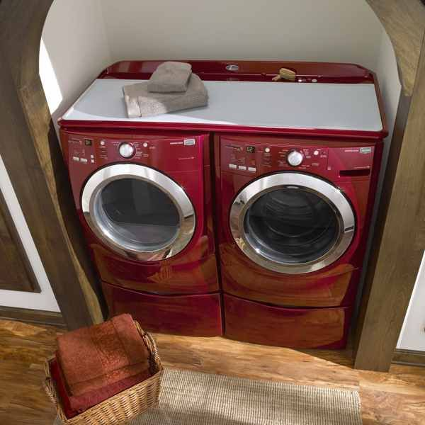 Laundry Room Layouts That Work: Maytag Laundry Work Surface Color Matched To Washer And