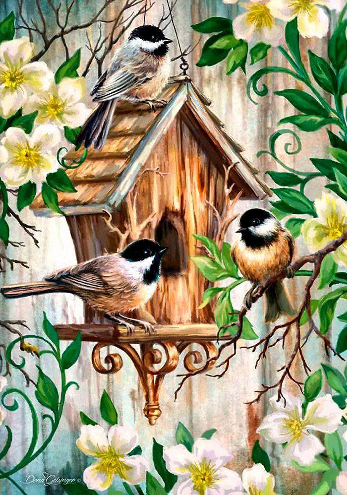 современные картинки птиц для декупажа самые красивые