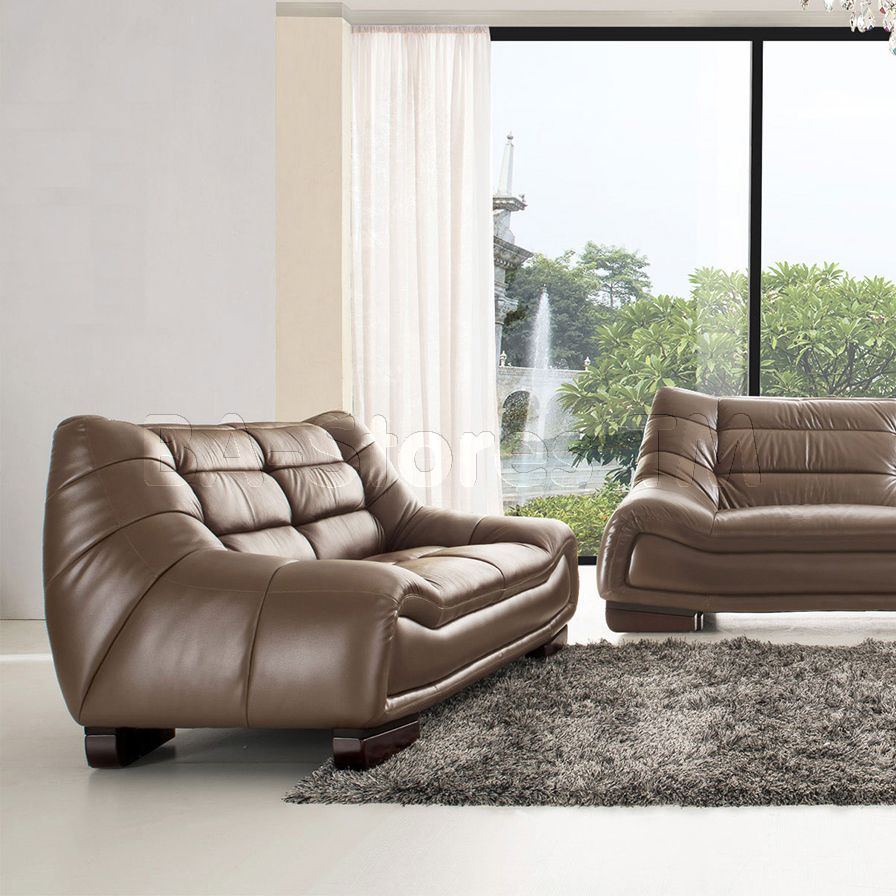 Sofaland Spain 6073 Leatherloveseat In Brown By Esf Loveseat By Esf Pinterest