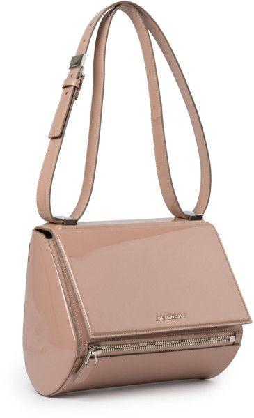 db89ec8cc0 Givenchy Pandora Box Mini Patent-leather Shoulder Bag in Gray (PALE PINK)