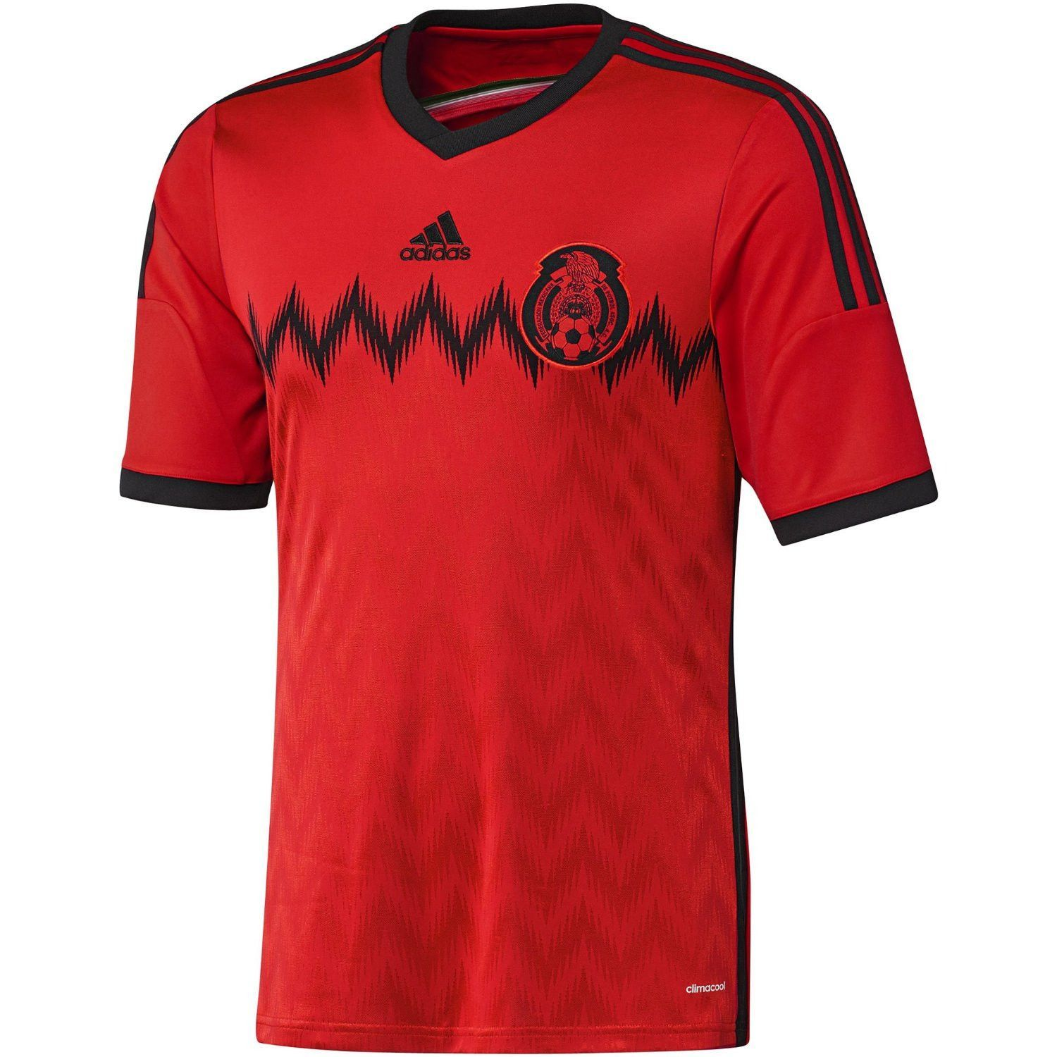 Federacion Mexicana Mexico Adidas Red Performance Football Soccer Jersey (S)