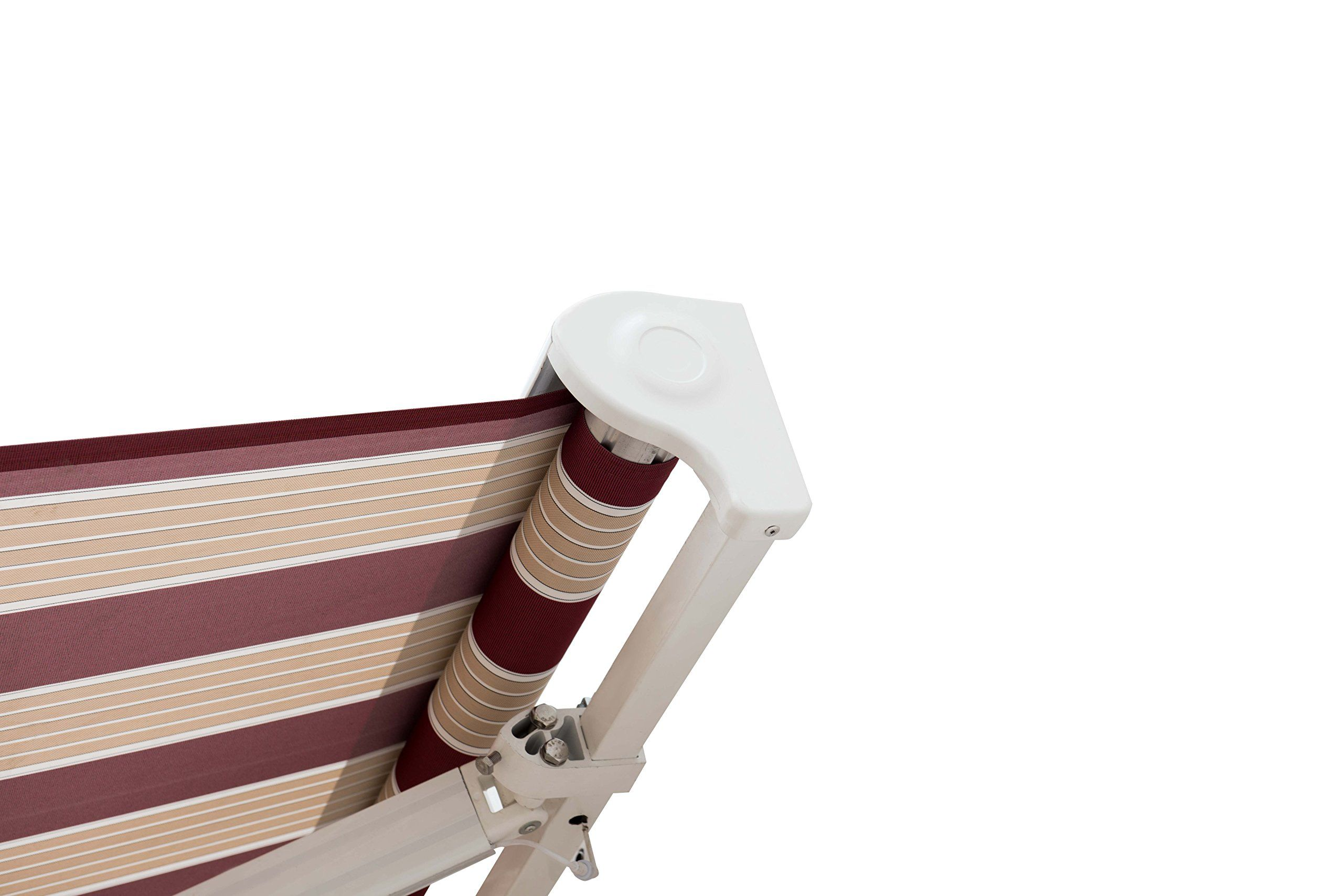 Sunjoy 14 X 10 Marquise Halfcassette Motorized Retractable Awning Red Red Stripe Read More At The Image Link Retractable Awning Patio Awning Red Stripe