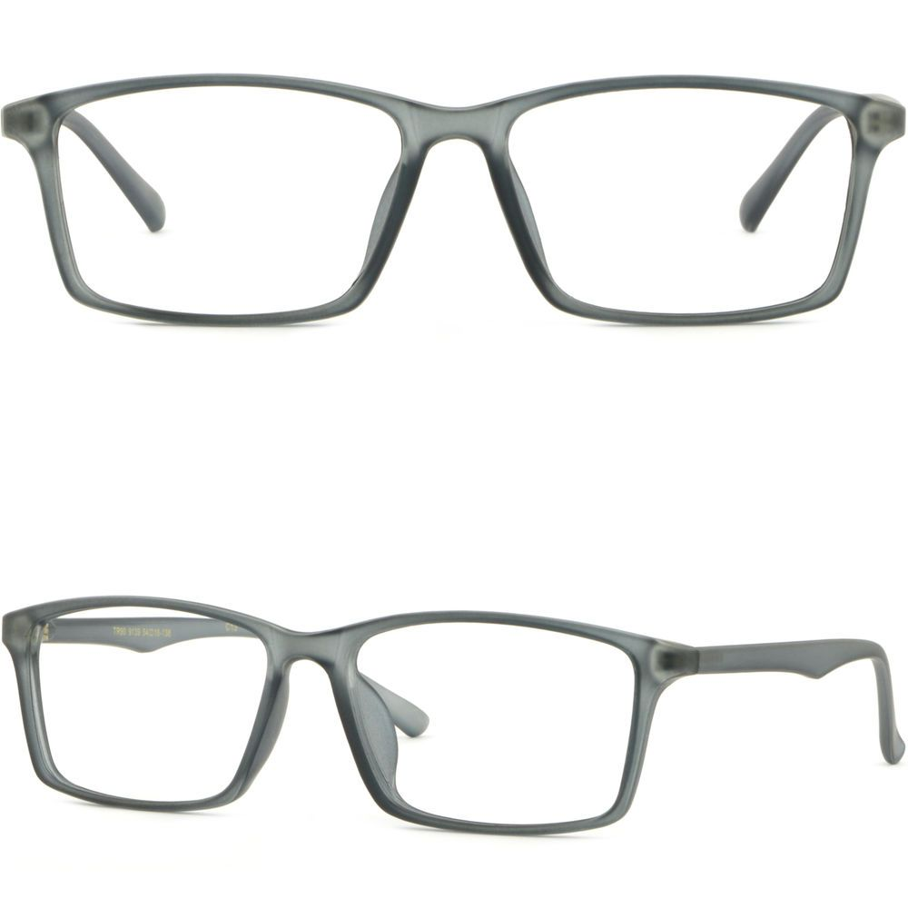 5281990720e Large Flexible Memory Plastic Frame Light Wide Prescription Lenses Glasses  Gray  Unbranded