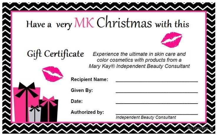 Mary Kay Christmas Gift Certificate Mary Kay Gifts Mary Kay Christmas Mary Kay Gift Certificates