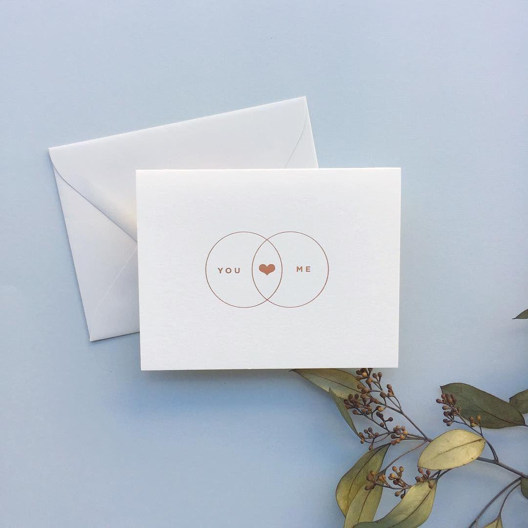 rose gold foil love card   Smitten on Paper