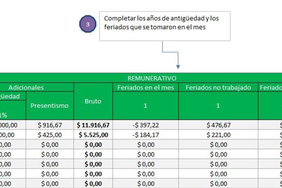 Planilla De Excel De Liquidacion De Sueldos Liquidacion De