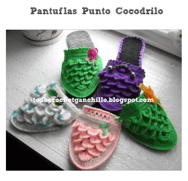 Pantuflas punto cocodrilo paso a paso | Molde, Cocodrilos y Puntadas