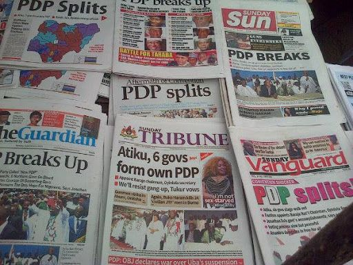 Latest Nigeria Newspapers Headlines for Today Tuesday June