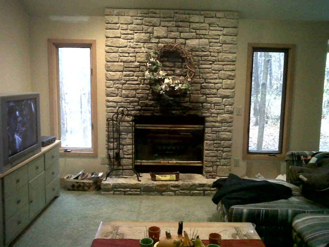 Living room small living room ideas with brick fireplace backsplash - Fireplace Design Architecture Fireplace Before Stone Rework Artificial Stone Wall Panels Stone Fireplace Facade Faux Brick Panels