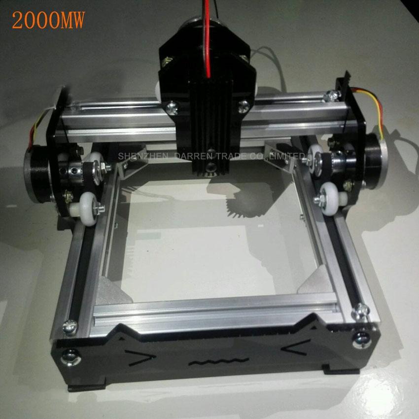 191.55$  Watch now - http://alilrr.worldwells.pw/go.php?t=32735081662 - 1PC 2000mw DIY mini laser engraving machine laser marking machine engraving machine engraving graphic 10*11CM 191.55$