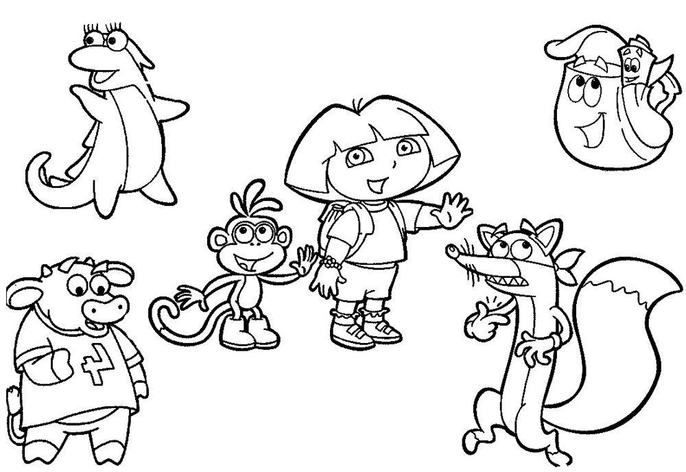 Wonderful Dora The Explorer Coloring Pages Procoloring Com