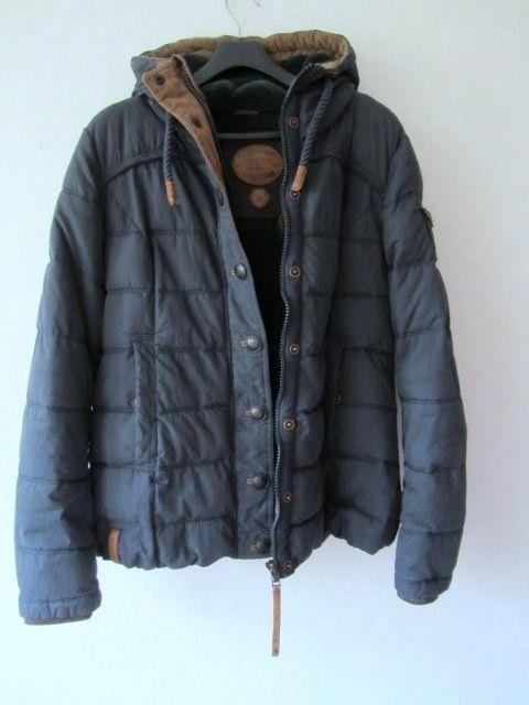 beste Qualität neuer Lebensstil exquisites Design Naketano Winterjacke in XL,blau/petrol,tailliert ...