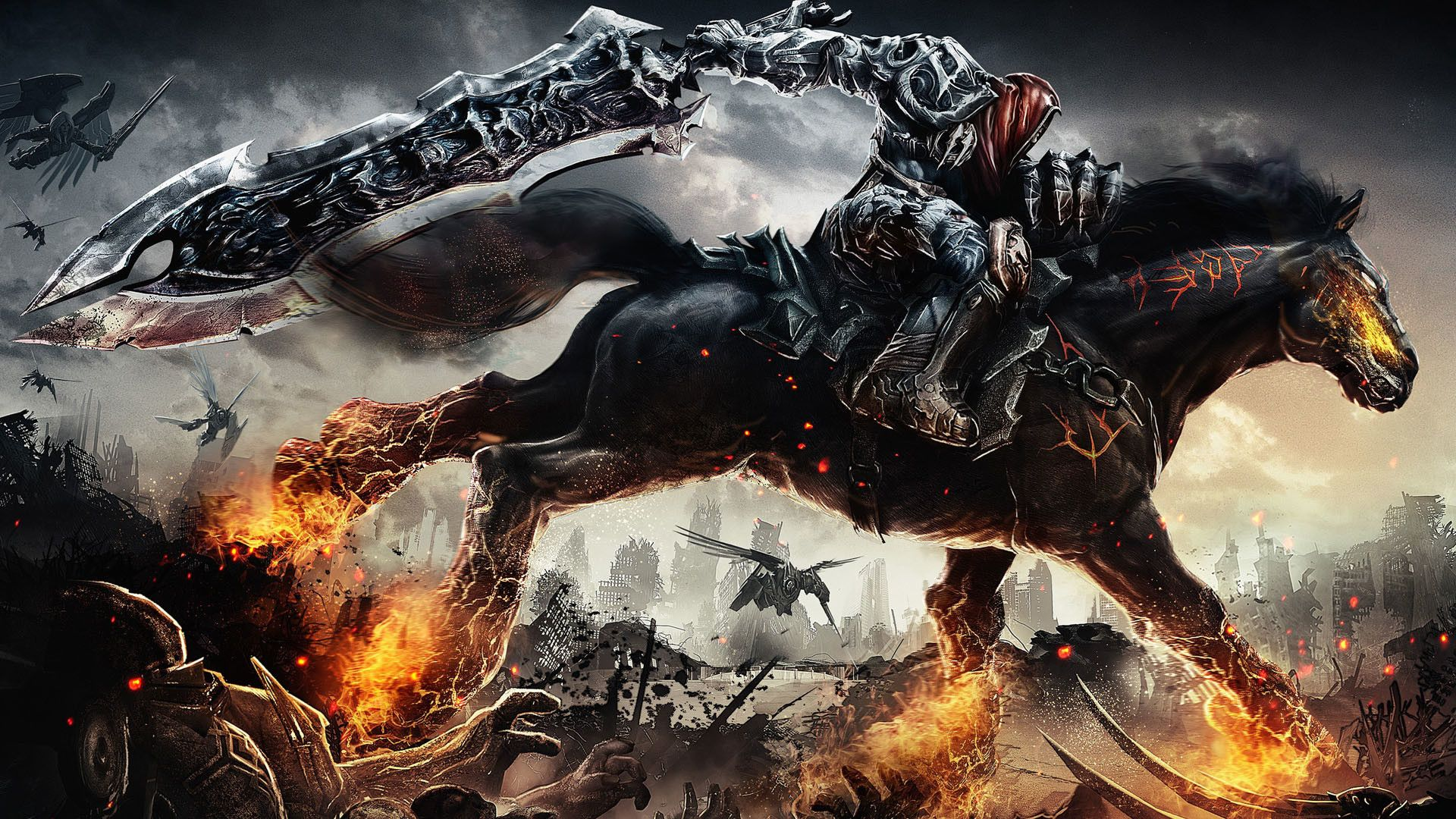 1920x1080 Cool Backgrounds Hd 1080p Gaming Horse Wallpaper