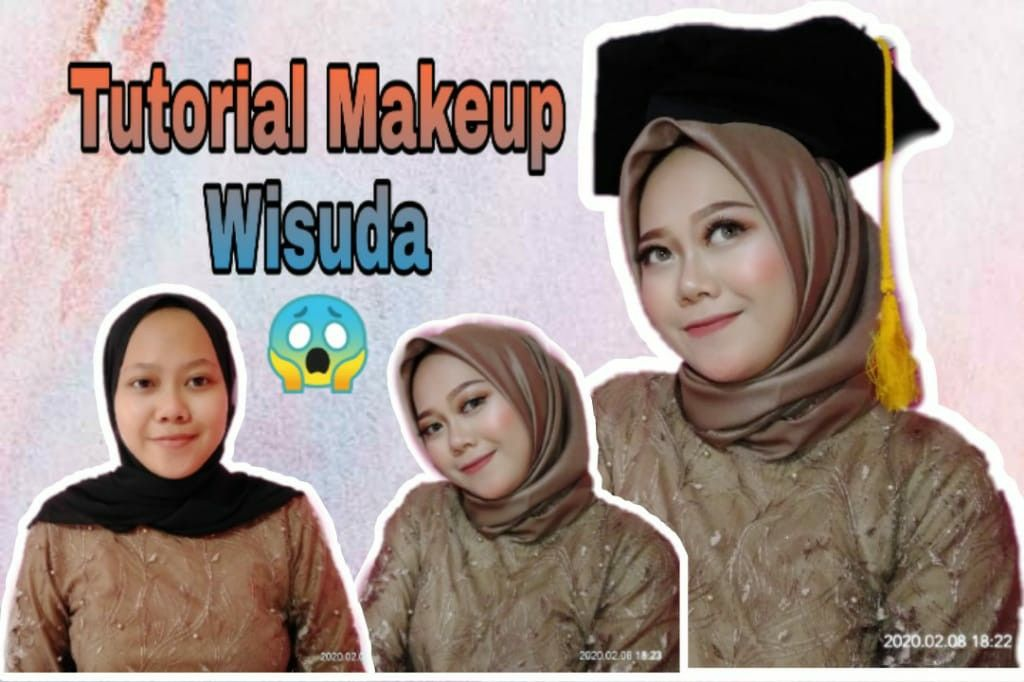 Tutorial Makeup Wisuda In 2020 Graduation Makeup Tutorial Tutorial Makeup Tutorial