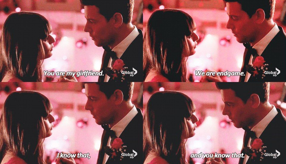 """""""You are my girlfriend. We are endgame. I know that, and you know that"""" #Finchel"""
