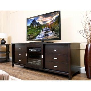 ABBYSON LIVING Malibu 72 inch TV Console Overstock