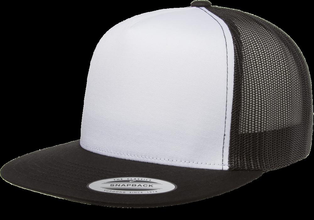 Yupoong Flat Billed White Front Trucker Mesh Wholesale Blank Caps Hats Capwholesalers Trucker Cap Trucker Flat Bill