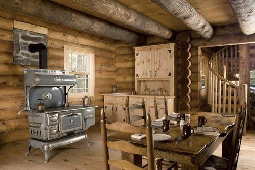 The vintage wood stove is calling...