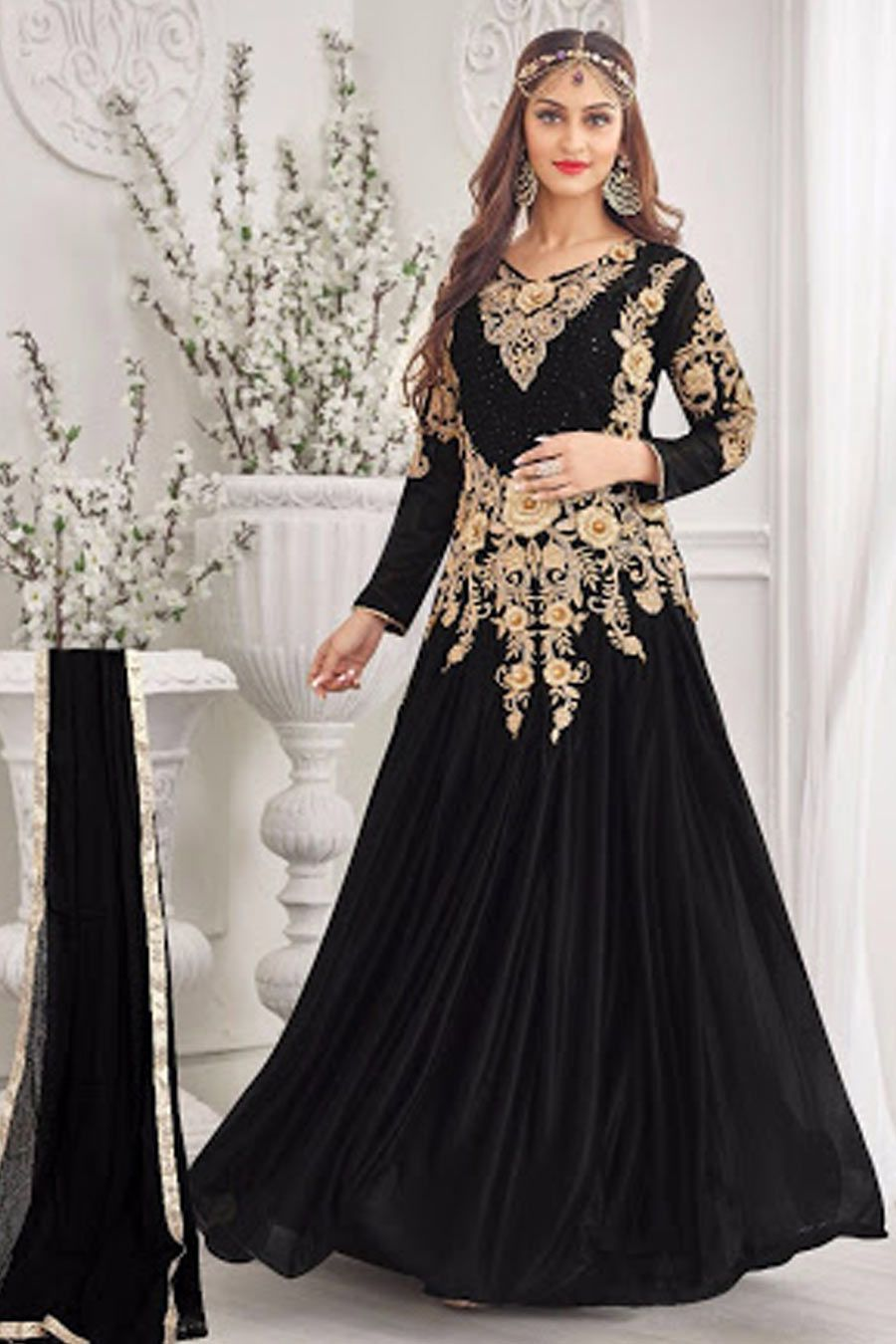 7f31ba620e Black Lycra Gown Style Semi Stitch Suit | Gown Style Suits | Formal ...