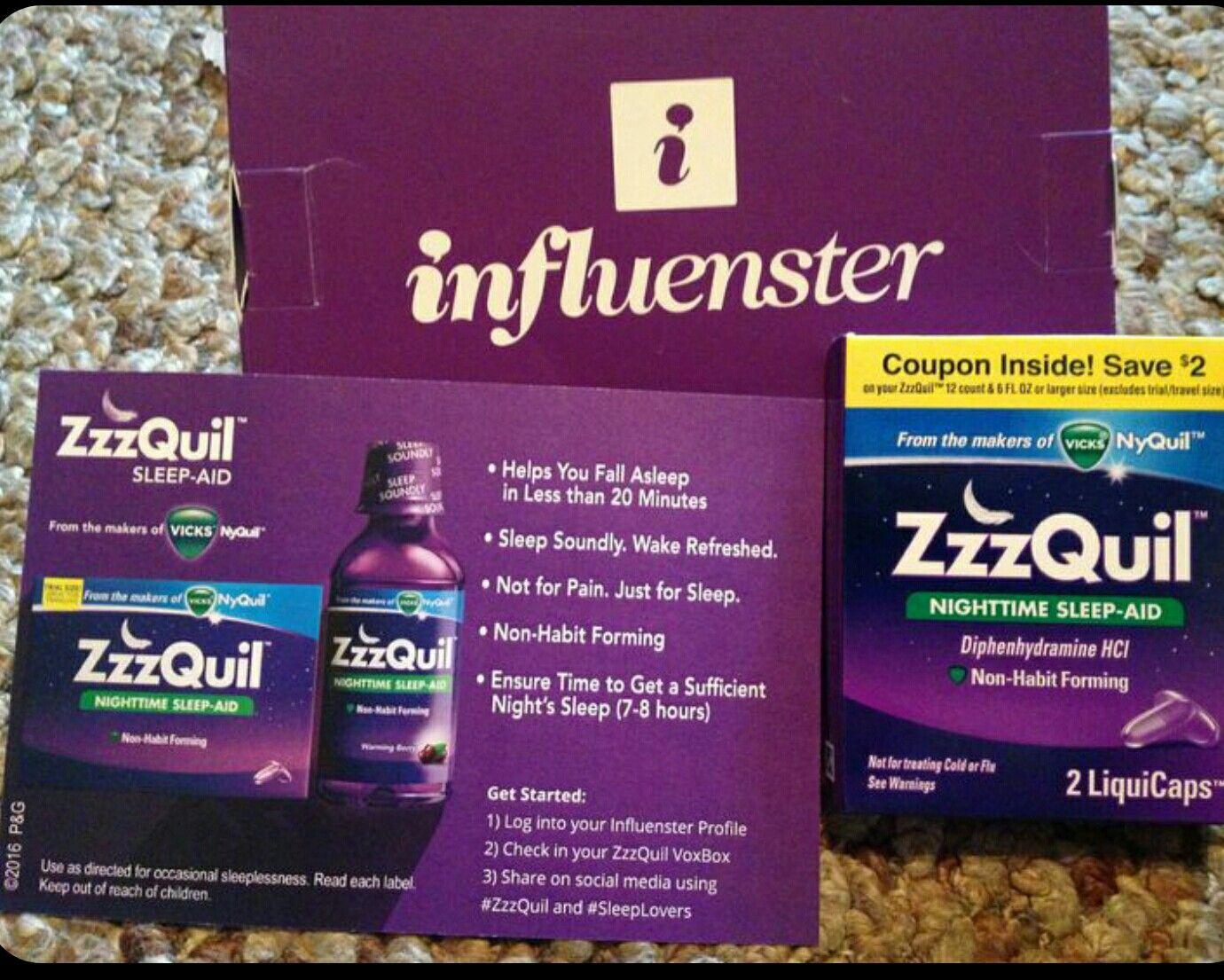 @InfluensterVox  #zzquil# SleepLovers  #gotitfree